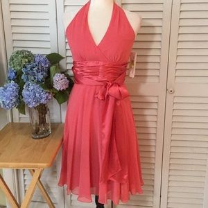 Maggie London Dark Coral Dress Size 6P